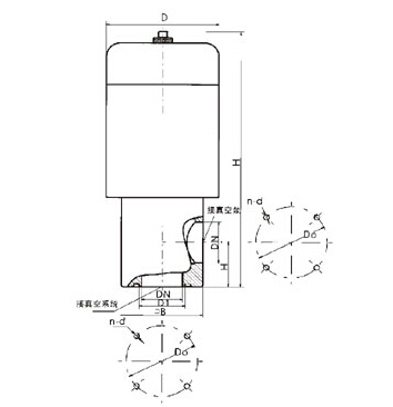 DDC-JQ型电磁真空带充气阀结构图