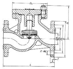 H41N升降式止回阀(卧式止回阀) 结构图-沪山阀门制造(上海)有限公司