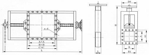 螺旋闸门结构图